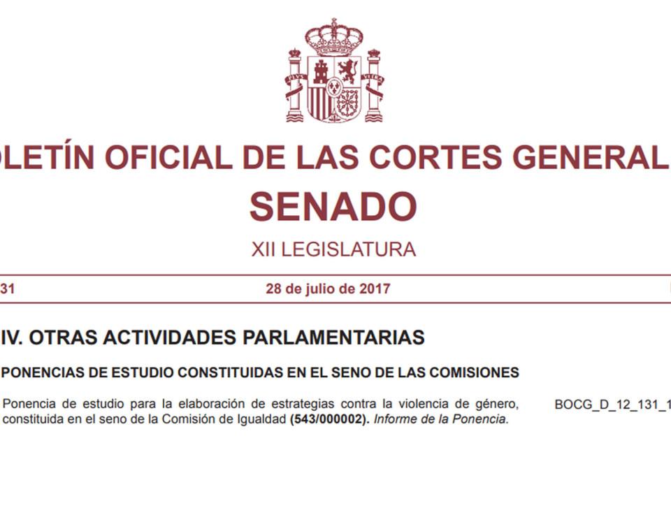 Bolelín Oficial del Senado